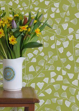 Wallpaper Fern light green Raumansicht