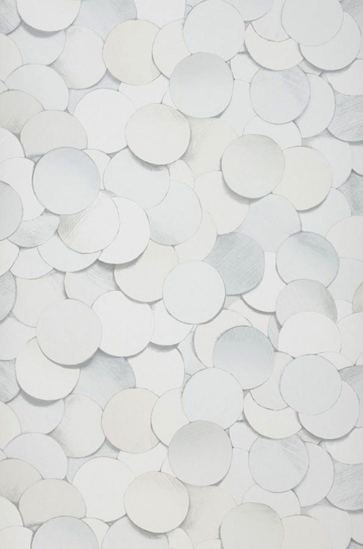 Papel pintado pencil drawing 05 blanco crema tonos de - Papeles pintados de los 70 ...