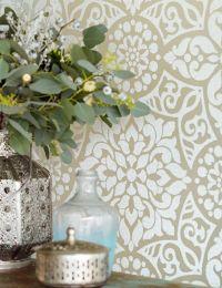 Papel pintado Mirabel beige grisáceo claro