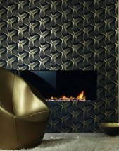 Wallpaper Verve Shimmering pattern Matt base surface Modern Art Anthracite Gold