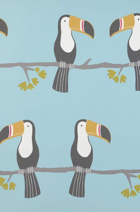 Tiermotiv Tapeten Tapete Croaking Roommate Pastelltürkis Detailansicht