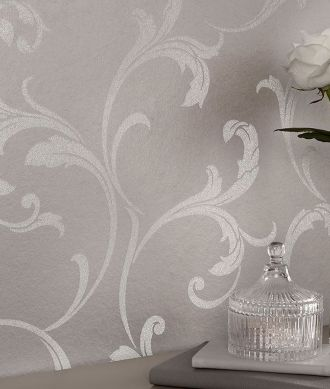 Papel de parede Iwana aluminio branco Ver quarto