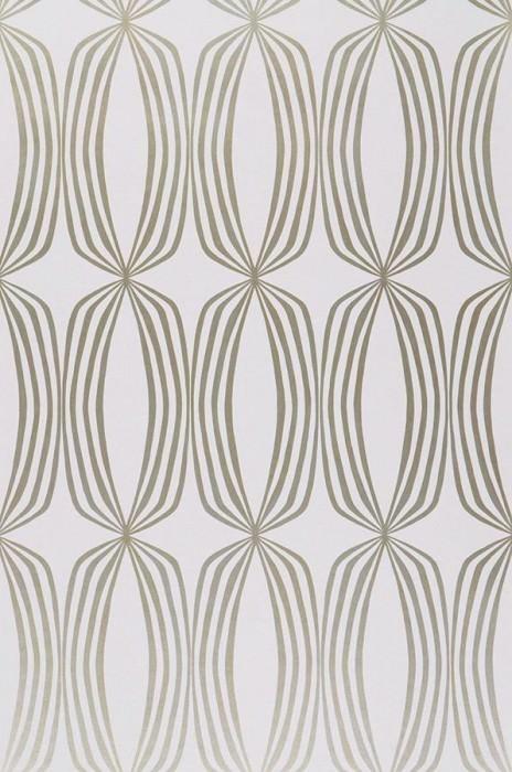 Wallpaper Levana Shimmering pattern Matt base surface Rhombuses White Gold