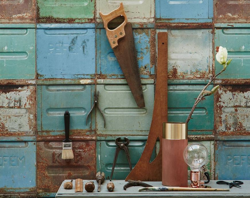 Industrial Style Wallpaper Wallpaper Container blue Room View