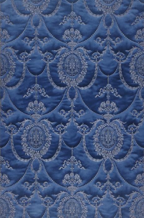 Wallpaper Rabia Shimmering Baroque damask Steel blue Blue grey