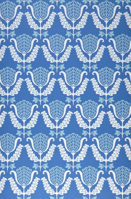 Archiv Carta da parati Zarina blu brillante Larghezza rotolo
