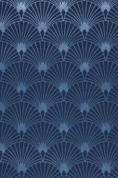 Wallpaper Babylone dark blue