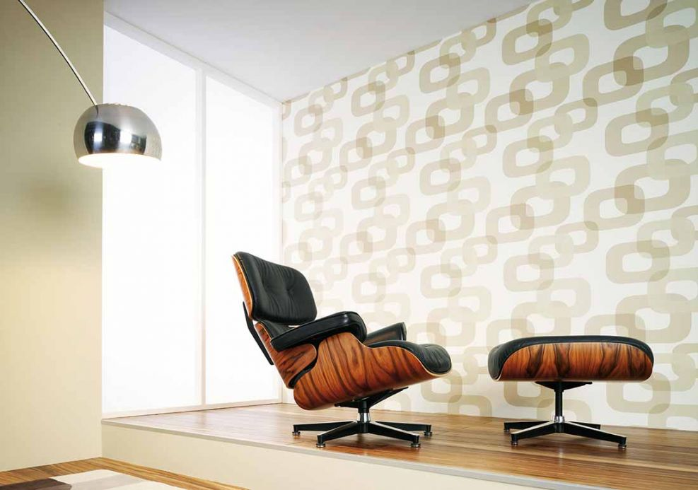 Archiv Wallpaper Haumea beige Room View