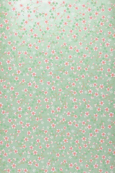 Archiv Papel de parede Felicia verde esbranquiçado Largura do rolo