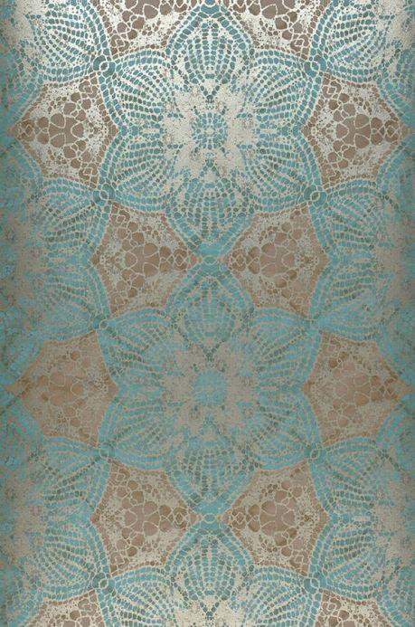 Papier peint Papier peint Marrakesh bleu turquoise Largeur de lé