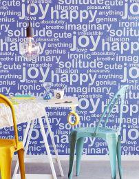 Papel pintado Beyla bleu outremer brillante
