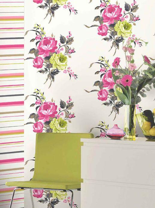 Archiv Wallpaper Olesia fuchsia Room View
