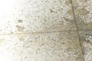 Papel pintado Heilango Brillante Imitación a baldosas vidriadas Beige grisáceo Plata mate Gris plateado