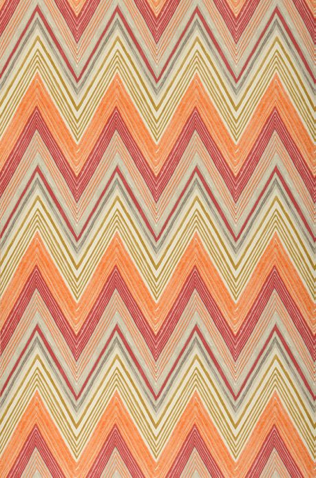 Geometric Wallpaper Wallpaper Vasuki orange Roll Width