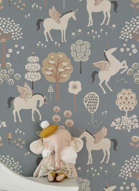 Papel de parede True Unicorns cinza escuro Ver quarto