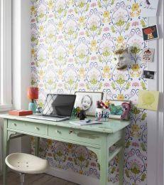 Papel de parede Anika verde claro