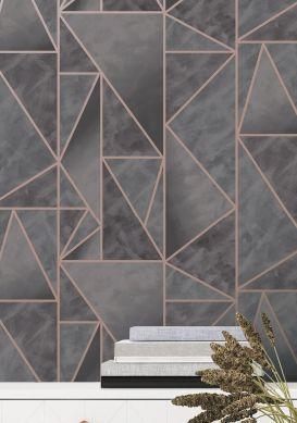 Wallpaper Fantasque dark grey Raumansicht