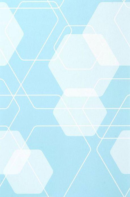 Archiv Papier peint Nolan turquoise clair Largeur de lé