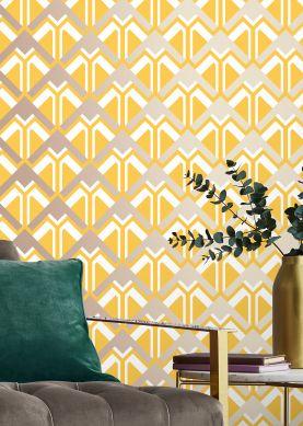 Papel de parede Nerea amarelo mel Ver quarto