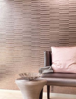 Papel de parede Mandarava marrom claro metálico Ver quarto