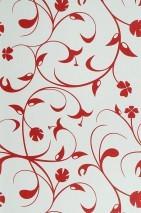 Wallpaper Cybele Matt Stylised flowers White Red