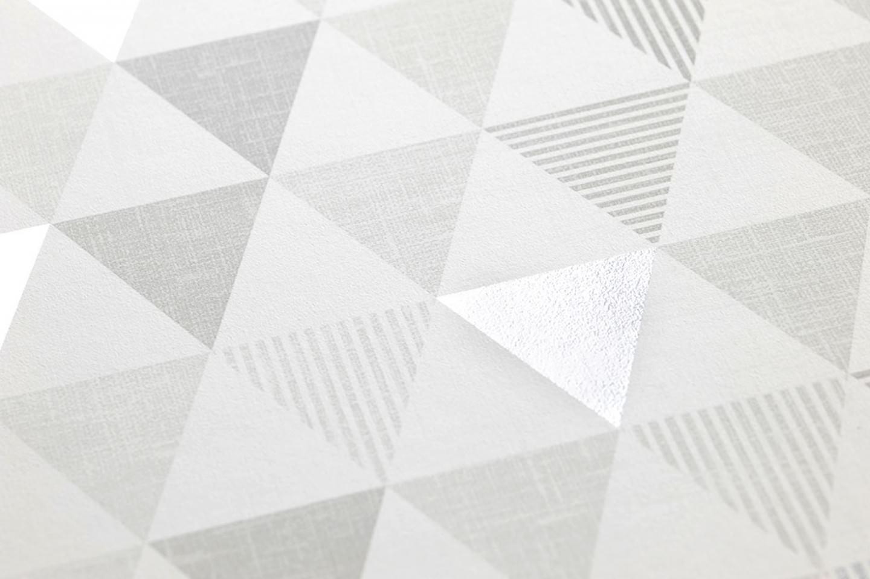 Papel pintado zenem blanco gris ceo tonos de gris gris - Papel pintado plateado ...