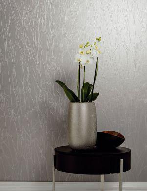 Wallpaper Crush Avantgarde 03 silver grey Room View