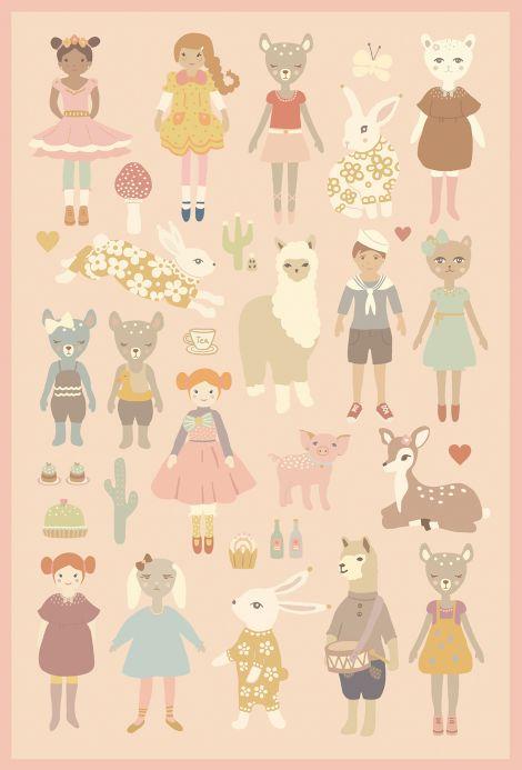 Papel de parede divertido Dollhouse Sticker Detalhe A4