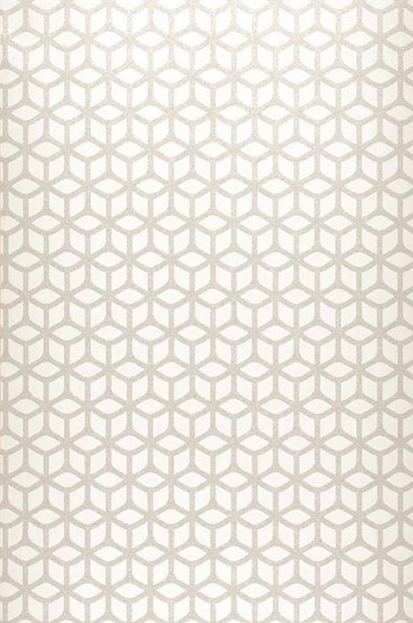 Wallpaper Zelor Shimmering Geometrical elements Cream White silver shimmer