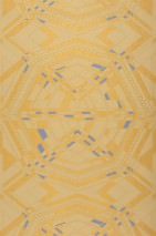 Papel de parede Navarro Mate Efeito têxtil  Arte Moderna Amarelo ouro Bege Azul violeta