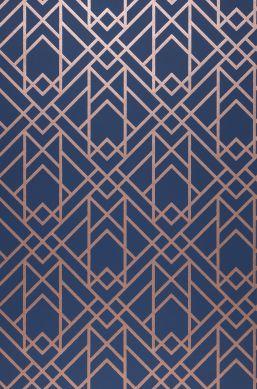 Papel pintado Baya azul oscuro Ancho rollo