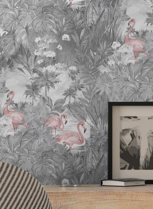Papel pintado moderno Papel pintado Bahia rosa claro Ver habitación