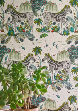 Papel de parede Lost World verde samambaia Raumansicht