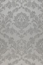 Wallpaper Clarise Matt Baroque damask Stone grey Dark grey Grey white Quartz grey