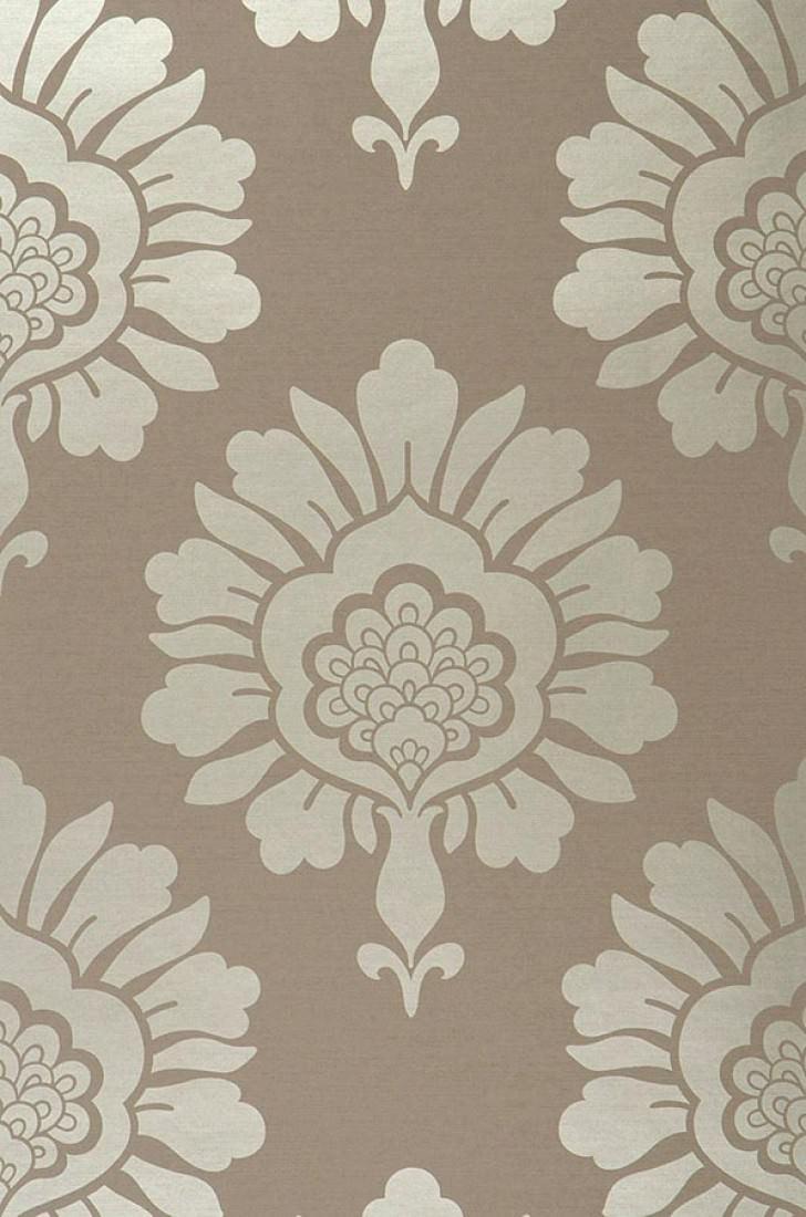 papier peint hermes gris beige or blanc papier peint des ann es 70. Black Bedroom Furniture Sets. Home Design Ideas