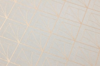 Papel pintado Catriona Patrón brillante Superficie base mate Art Deco Elementos gráficos Cáscara de huevo Oro brillante