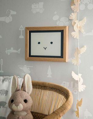 Wallpaper Kivia light grey Room View