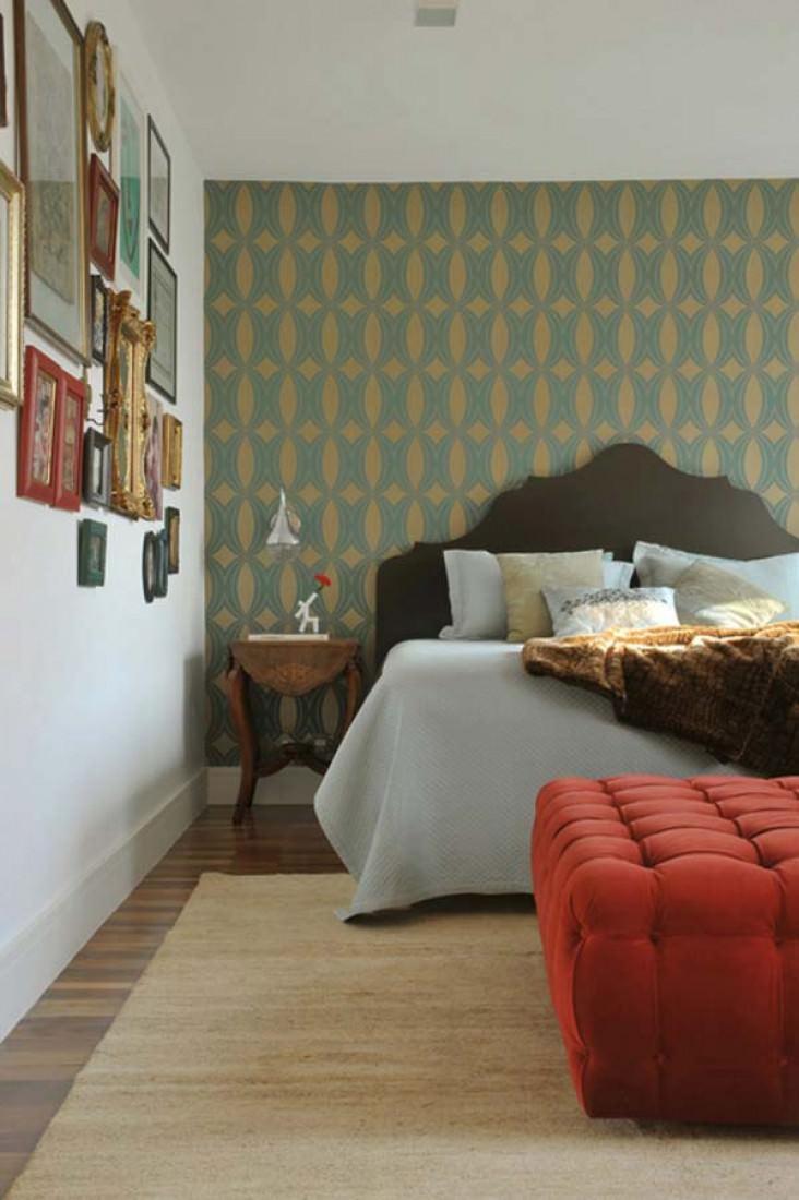tapete athena gold t rkis tapeten der 70er. Black Bedroom Furniture Sets. Home Design Ideas