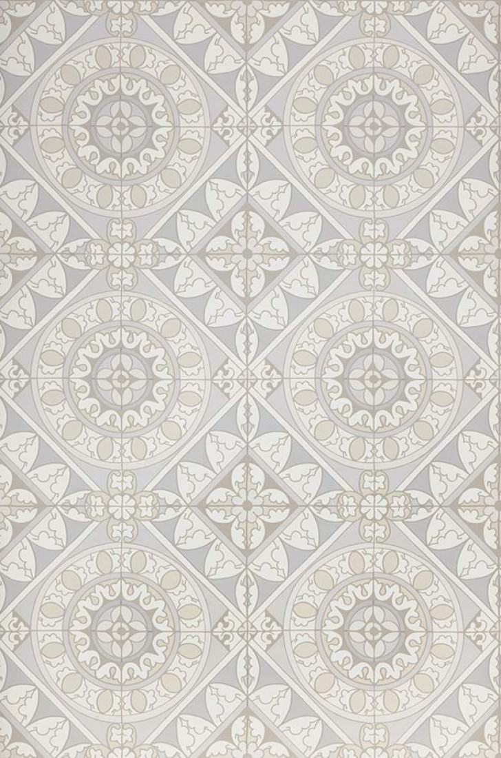 Papier peint Borromeo (Gris bleu, Blanc gris, Gris clair , Blanc ...