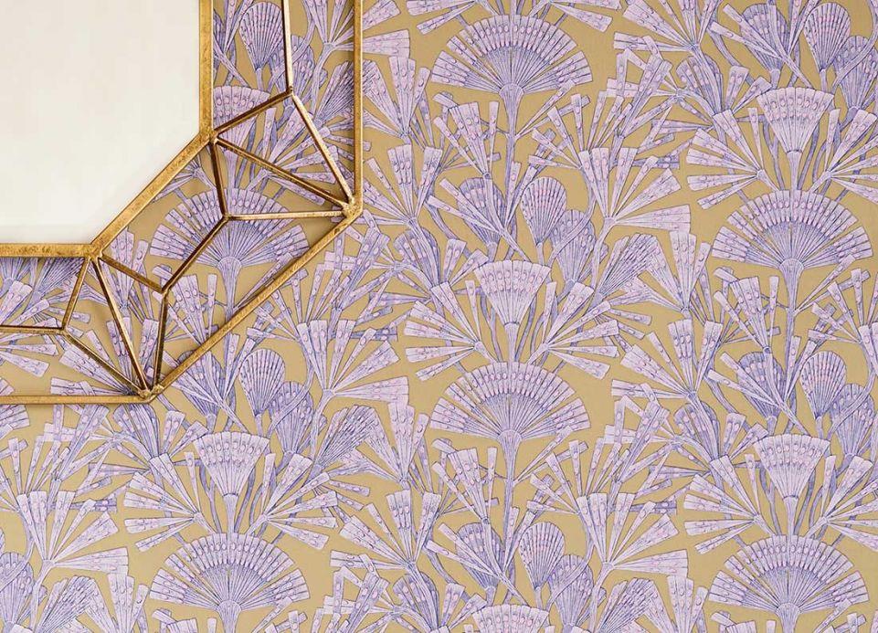 Papier peint art déco Papier peint Tiberia violet pastel Vue pièce