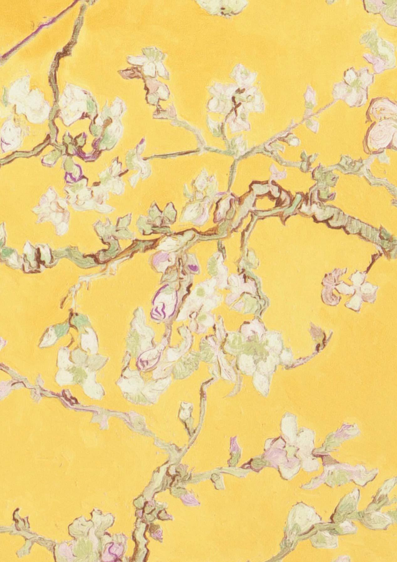Tapete vangogh blossom gelb blassgr n braun olivgr n - Meisterwerk tapeten ...