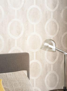 Papel de parede Florin cinza bege claro Ver quarto