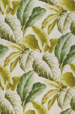 Papel pintado Verena amarillo verdoso Ancho rollo