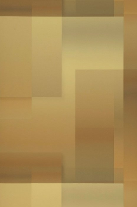 Wallpaper Space Odyssey Matt Geometrical elements Brown tones Pastel yellow