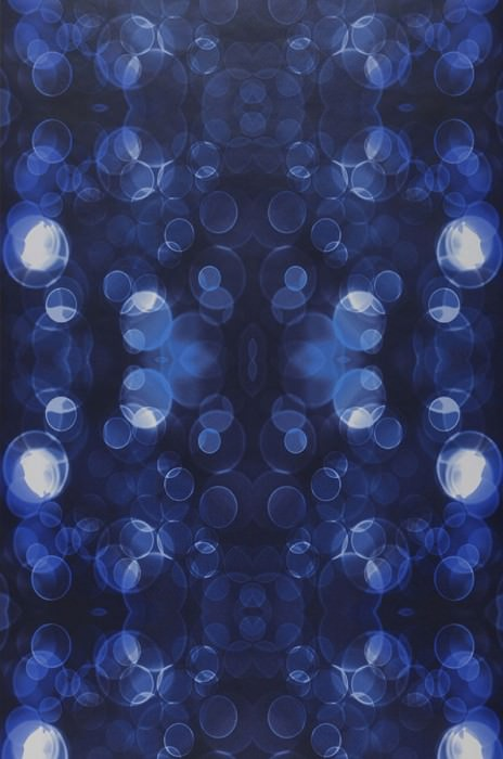 Wallpaper Mendonka Matt Bubbles Light dots Black blue Shades of blue White