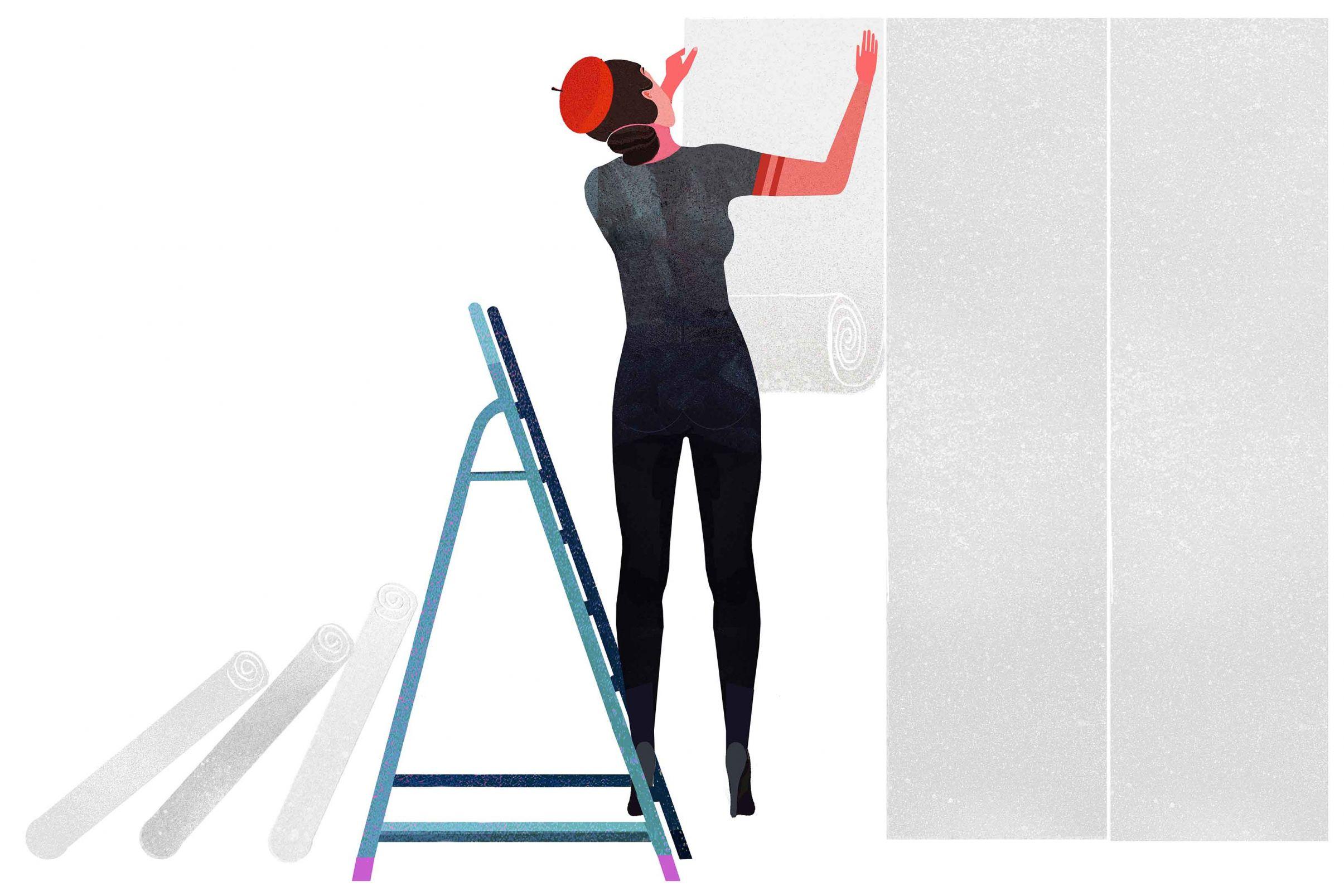 Preparacion-de-la-superficie-para-empapelar-Como-aplicar-papel-de-revestimiento