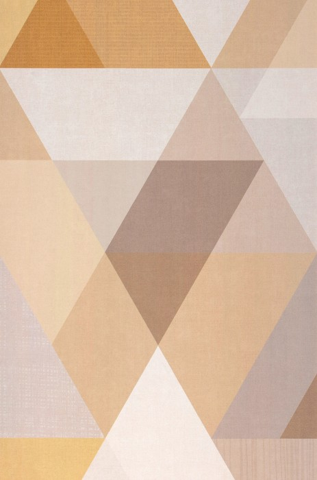 Papel pintado Orlando Mate Triángulos Marrón pálido Beige parduzco Blanco crema Amarillo arena