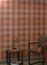 Wallpaper Narses Matt Plaid Brown orange Pastel brown