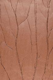 Papier peint Crush Tree 05 brun cuivré chatoyant