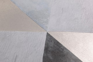Wallpaper Jerom Matt Squares Trapezoids Grey tones Silver grey shimmer White grey